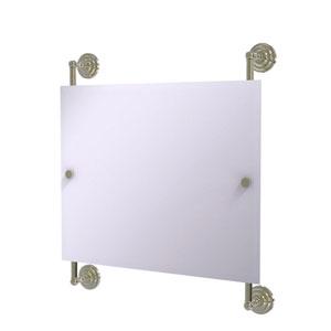 Prestige Que New Polished Nickel 26-Inch Landscape Rectangular Frameless Rail Mounted Mirror