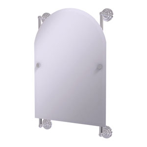 Prestige Que New Polished Chrome 21-Inch Arched Top Frameless Rail Mounted Mirror