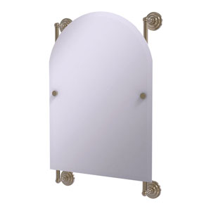 Prestige Que New Antique Pewter 21-Inch Arched Top Frameless Rail Mounted Mirror