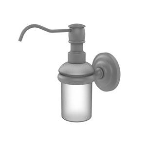 Prestige Que New Matte Gray Three-Inch Wall Mounted Soap Dispenser