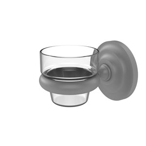Prestige Que New Matte Gray Three-Inch Wall Mounted Votive Candle Holder