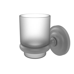 Prestige Que New Matte Gray Three-Inch Wall Mounted Tumbler Holder