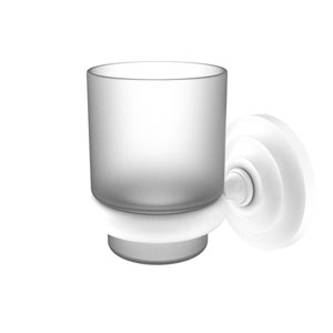 Prestige Que New Matte White Three-Inch Wall Mounted Tumbler Holder