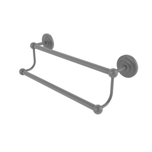 Prestige Que New Matte Gray 18-Inch Double Towel Bar