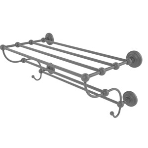 Prestige Que New Matte Gray 36-Inch Train Rack Towel Shelf