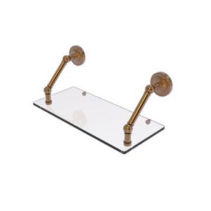 Prestige Regal Brushed Bronze 18-Inch Floating Glass Shelf