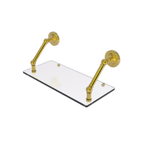 Prestige Regal Polished Brass 18-Inch Floating Glass Shelf