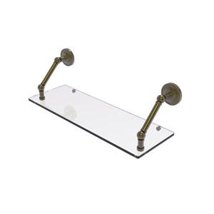 Prestige Regal Antique Brass 24-Inch Floating Glass Shelf
