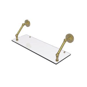 Prestige Regal Satin Brass 24-Inch Floating Glass Shelf