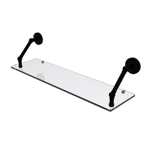 Prestige Regal Matte Black 30-Inch Floating Glass Shelf