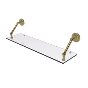 Prestige Regal Unlacquered Brass 30-Inch Floating Glass Shelf
