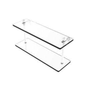 Prestige Regal Matte White 16-Inch Two Tiered Glass Shelf