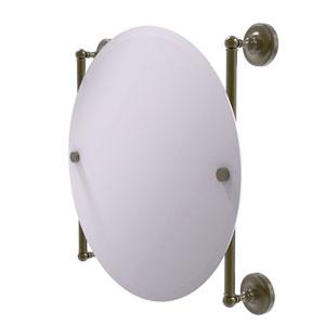 Prestige Regal Antique Brass 22-Inch Round Frameless Rail Mounted Mirror