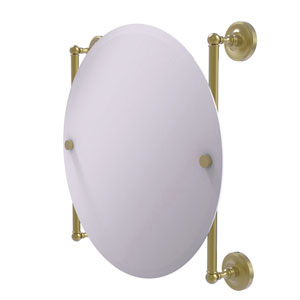 Prestige Regal Satin Brass 22-Inch Round Frameless Rail Mounted Mirror