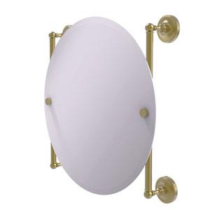 Prestige Regal Satin Brass 22-Inch Round Frameless Rail Mounted Mirror
