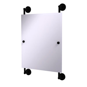 Prestige Regal Matte Black 21-Inch Rectangular Frameless Rail Mounted Mirror
