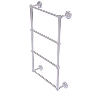 Prestige Regal Polished Chrome 30-Inch Four Tier Ladder Towel Bar with Dotted Detail