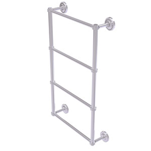 Prestige Regal Satin Chrome 30-Inch Four Tier Ladder Towel Bar with Dotted Detail