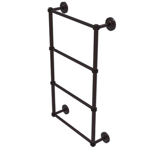 Prestige Regal Antique Bronze 36-Inch Four Tier Ladder Towel Bar with Dotted Detail