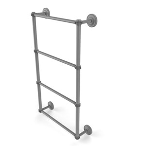 Prestige Regal Matte Gray 36-Inch Four Tier Ladder Towel Bar with Dotted Detail