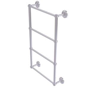 Prestige Regal Satin Chrome 30-Inch Four Tier Ladder Towel Bar with Groovy Detail
