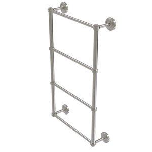 Prestige Regal Satin Nickel 30-Inch Four Tier Ladder Towel Bar with Groovy Detail