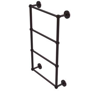 Prestige Regal Antique Bronze 36-Inch Four Tier Ladder Towel Bar with Groovy Detail