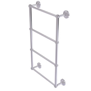 Prestige Regal Polished Chrome 36-Inch Four Tier Ladder Towel Bar with Groovy Detail