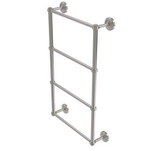 Prestige Regal Satin Nickel 36-Inch Four Tier Ladder Towel Bar with Groovy Detail