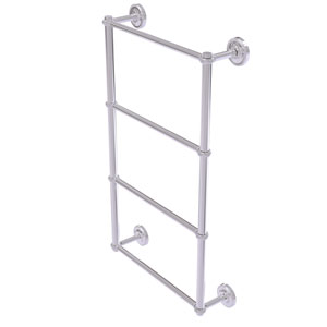Prestige Regal Polished Chrome 30-Inch Four-Tier Ladder Towel Bar with Twisted Detail