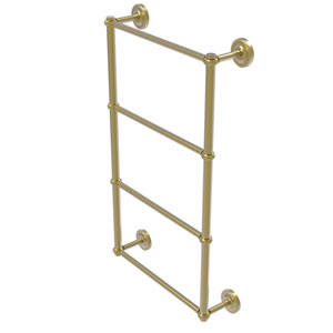 Prestige Regal Satin Brass 30-Inch Four-Tier Ladder Towel Bar with Twisted Detail