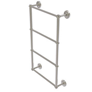 Prestige Regal Satin Nickel 30-Inch Four-Tier Ladder Towel Bar with Twisted Detail