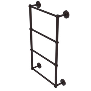 Prestige Regal Antique Bronze 36-Inch Four-Tier Ladder Towel Bar with Twisted Detail