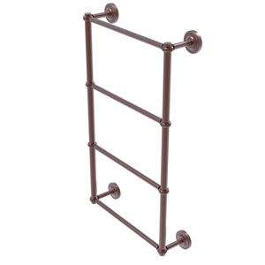 Prestige Regal Antique Copper 36-Inch Four-Tier Ladder Towel Bar with Twisted Detail
