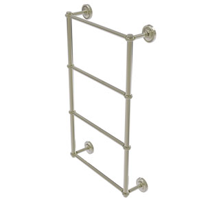 Prestige Regal Polished Nickel 36-Inch Four-Tier Ladder Towel Bar with Twisted Detail