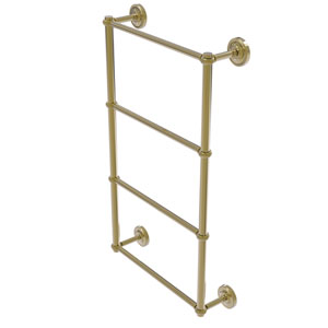 Prestige Regal Unlacquered Brass 36-Inch Four-Tier Ladder Towel Bar with Twisted Detail