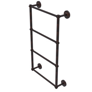 Prestige Regal Venetian Bronze 36-Inch Four-Tier Ladder Towel Bar with Twisted Detail