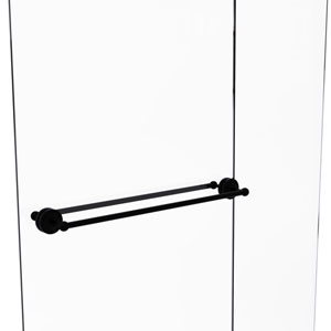 Prestige Regal Matte Black 30-Inch Back to Back Shower Door Towel Bar