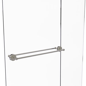 Prestige Regal Satin Nickel 30-Inch Back to Back Shower Door Towel Bar