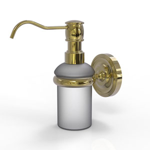 Prestige Regal Unlacquered Brass Three-Inch Wall Mounted Soap Dispenser
