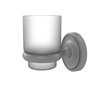 Prestige Regal Matte Gray Three-Inch Wall Mounted Tumbler Holder