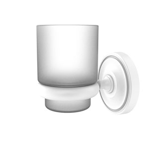 Prestige Regal Matte White Three-Inch Wall Mounted Tumbler Holder