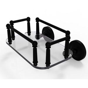Prestige Regal Matte Black Eight-Inch Wall Mounted Glass Guest Towel Tray