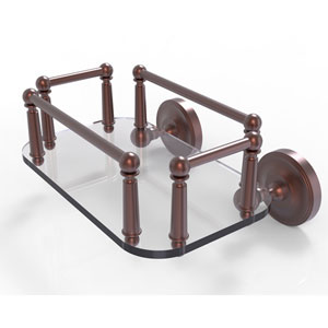 Prestige Regal Antique Copper Eight-Inch Wall Mounted Glass Guest Towel Tray