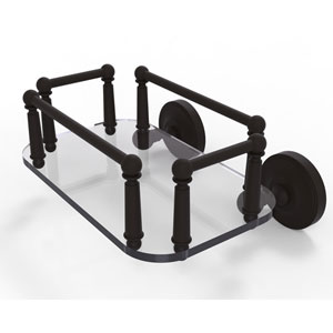 Prestige Regal Oil Rubbed Bronze Eight-Inch Wall Mounted Glass Guest Towel Tray