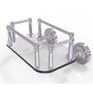 Prestige Regal Polished Chrome Eight-Inch Wall Mounted Glass Guest Towel Tray