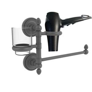 Prestige Regal Matte Gray Seven-Inch Hair Dryer Holder and Organizer