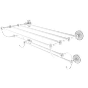 Prestige Regal Matte White 36-Inch Train Rack Towel Shelf