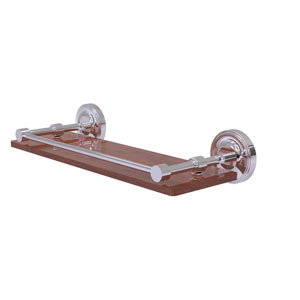 Prestige Regal Polished Chrome 16-Inch Solid IPE Ironwood Shelf with Gallery Rail