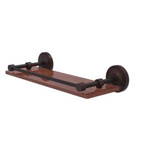 Prestige Regal Venetian Bronze 16-Inch Solid IPE Ironwood Shelf with Gallery Rail